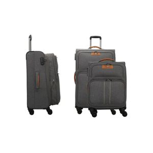 SET DE VALISES LYS - Set de 3 Valises extensible souples gris fon