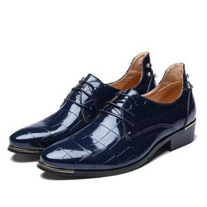 RICHELIEU Chaussures en Cuir Oxfords Patent Leather Style Ch