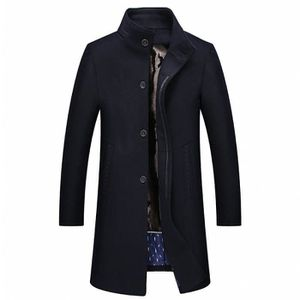 Coat Long Manteau Homme Hiver Funmoon Jtong Caban Trench nwk08OPX