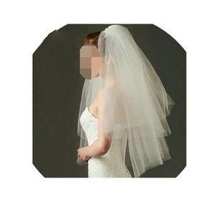 Tu es belle ® 3 niveau de la taille de mariée cristal voile satin bout des doigts Ivoire//Blanc