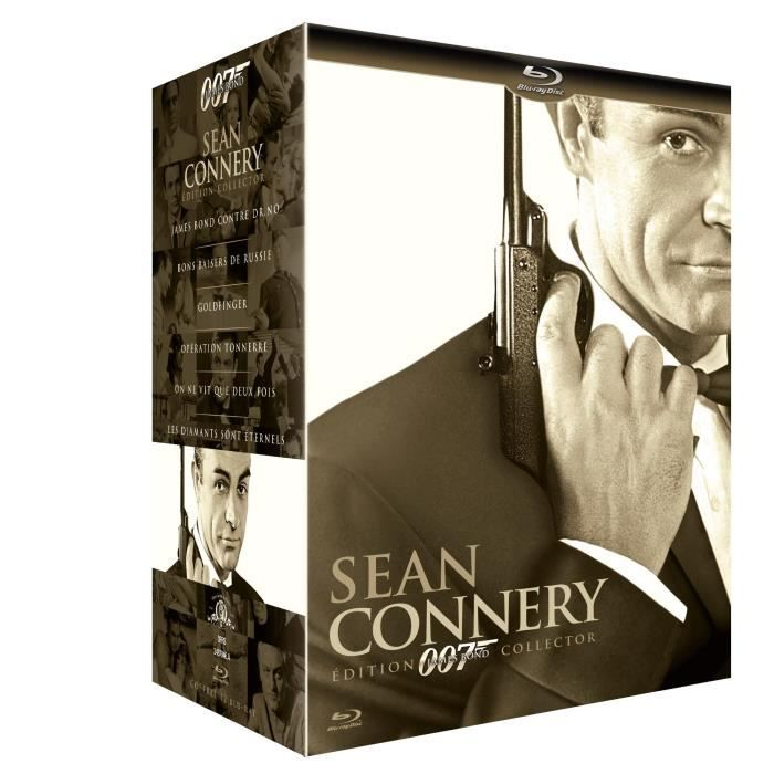 blu ray coffret james bond sean connery jame en blu ray film pas cher young terence. Black Bedroom Furniture Sets. Home Design Ideas
