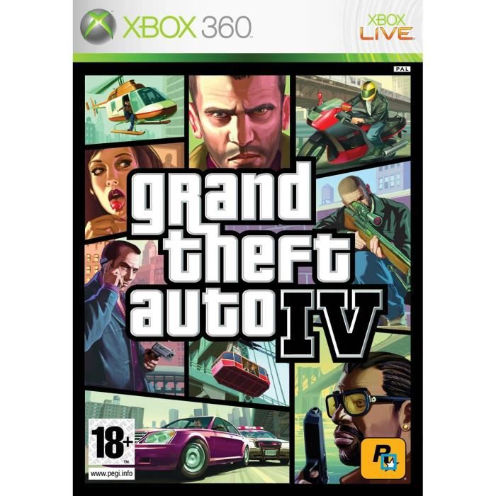 gta iv xbox 360 take 2 univers xbox 360 gamingpascher. Black Bedroom Furniture Sets. Home Design Ideas