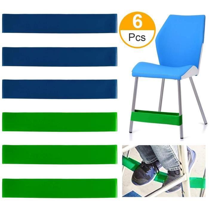 Bandes Elastiques en Latex pour Pieds de Chaise pour Enfants Tros Actif - Bandes Elastiques Fitness Yoga 15lbs - 25 lbs - (6 Pcs)
