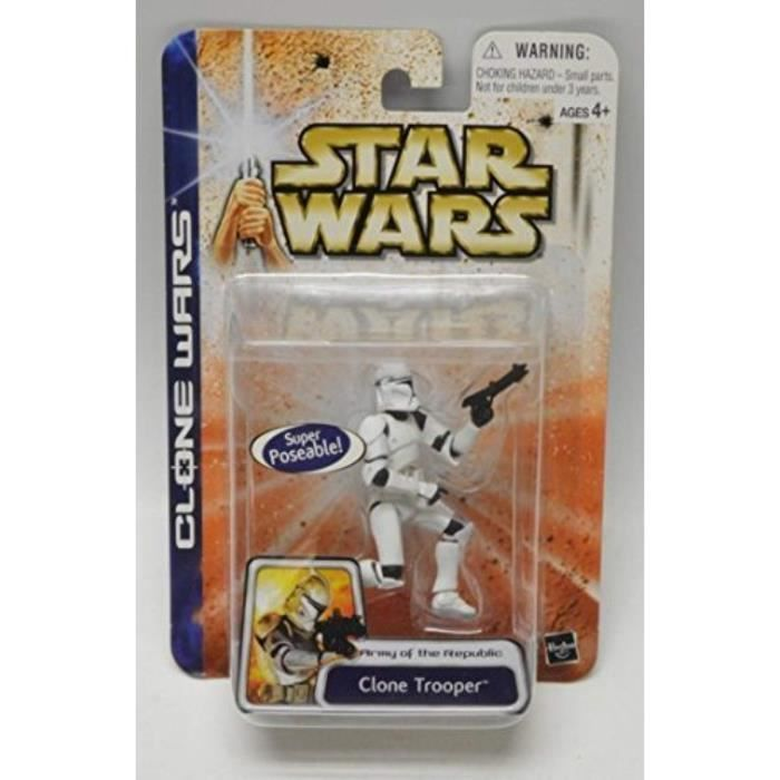Figurine Miniature L0O85 Clone Wars Super Articulate Clone Trooper - Army of The Republic
