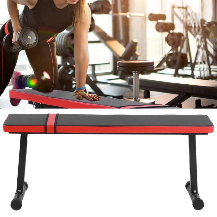 Banc de Musculation, Banc d'haltères, Réglable en Hauteur Charge Max. 300 kg Banc Plat d'exercice, Fitness Banc Maison Bureau - Acie