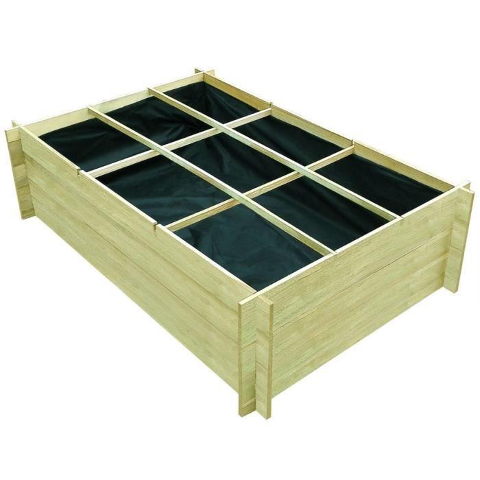 P162 Planteuse impregnes de bois 150 x 100 x 40 cm