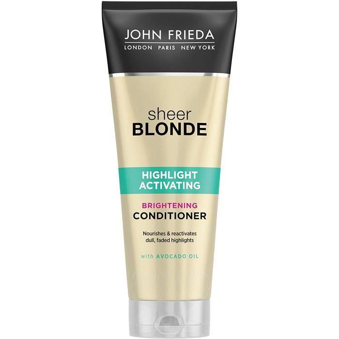 Après-shampooings John Frieda Sheer Blonde Highlight Activateur revitalisant éclaircissant à l'huile d'avocat pour cheve 21245