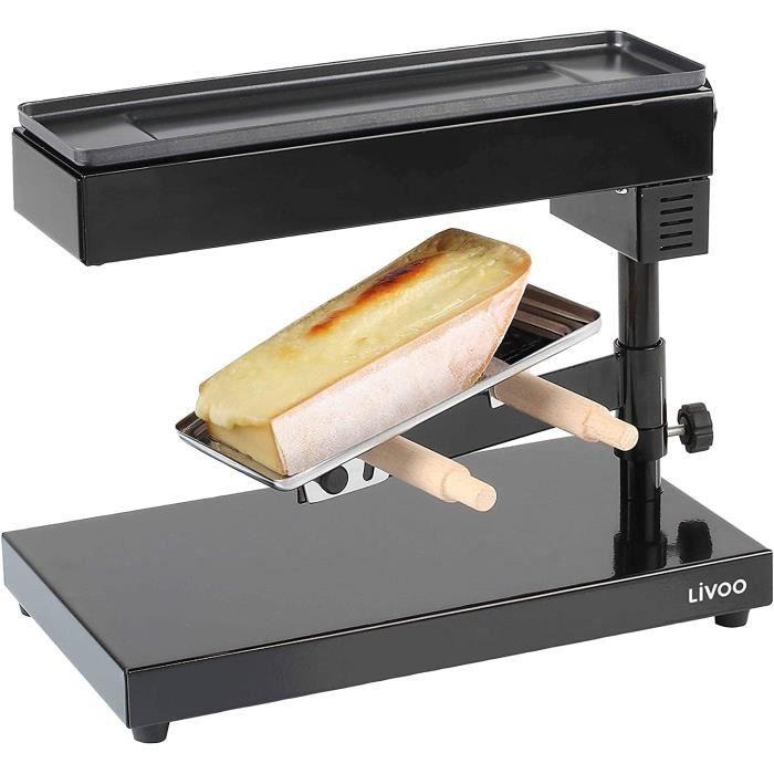 APPAREIL A RACLETTE LIVOO Feel good moments - Appareil à raclette traditionnel DOC159 Noir32