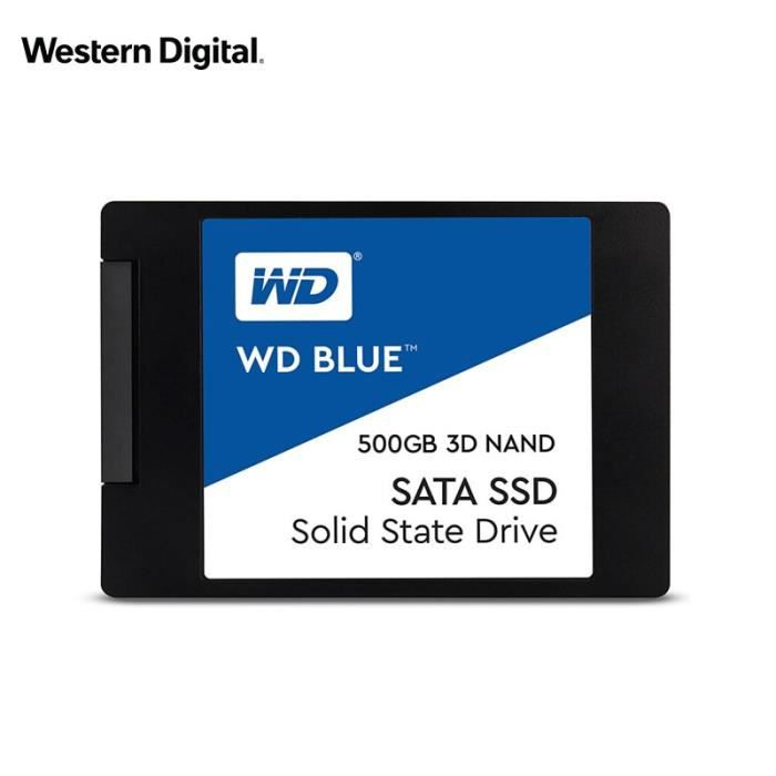 WESTERN DIGITAL 500GB BLUE 3D NAND SSD disque dur interne SATA3 2.5 -pour ordinateur portable ordinateur portable PC Ssd 500 Go disq