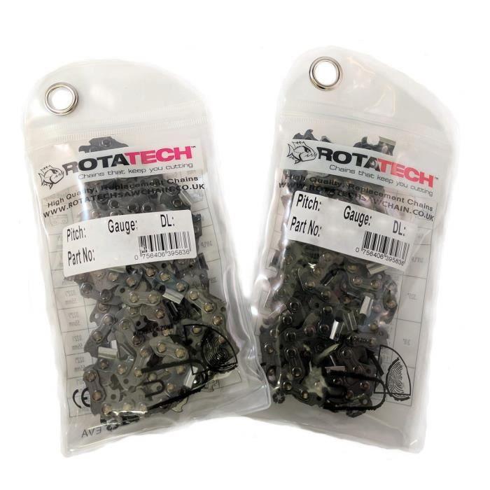Rotatech X2 (deux) authentique Chaîne de tronçonneuse 35,6 cm Compatible avec Husqvarna 135 235 236 tronçonneuse