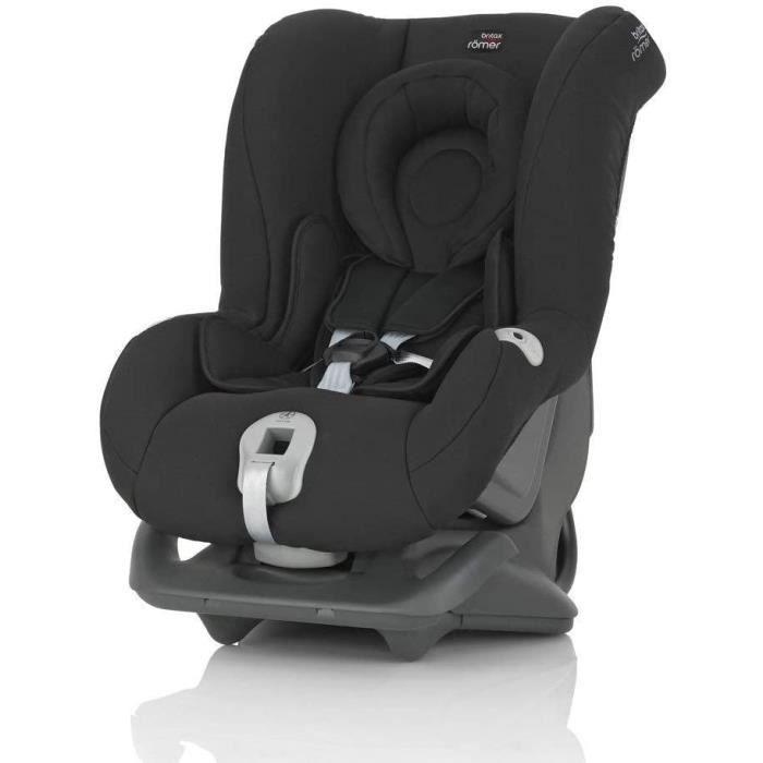 BRITAX RÖMER Siège Auto FIRST CLASS plusCeinturéenfant de 0 à 18kg (Groupe 1) de la naissance à 4 ansCosmos Black 52