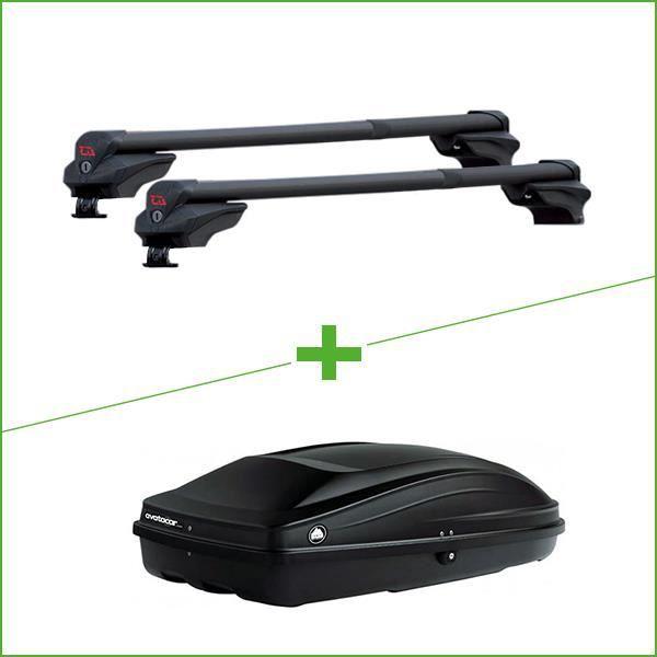 Pack barres et coffre de toit G3 Clop Inifnity - Wabb S pour Ford Escort Break V 5 portes - 3665597095937