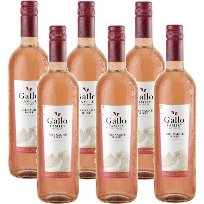 Gallo Family Vineyards Grenache Rose Vin Rose 6 x 0,75l