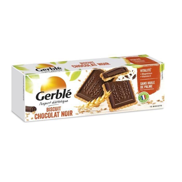 GERBLE Biscuits avec tablette de chocolat noir - 150 g
