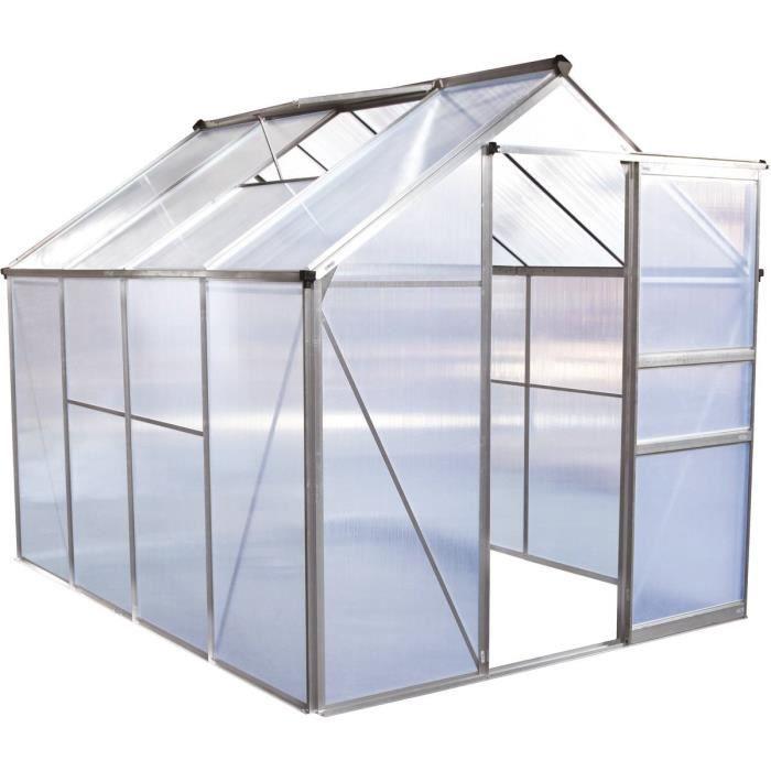 Serre jardin polycarbonate -Hortensia- 4,8m²