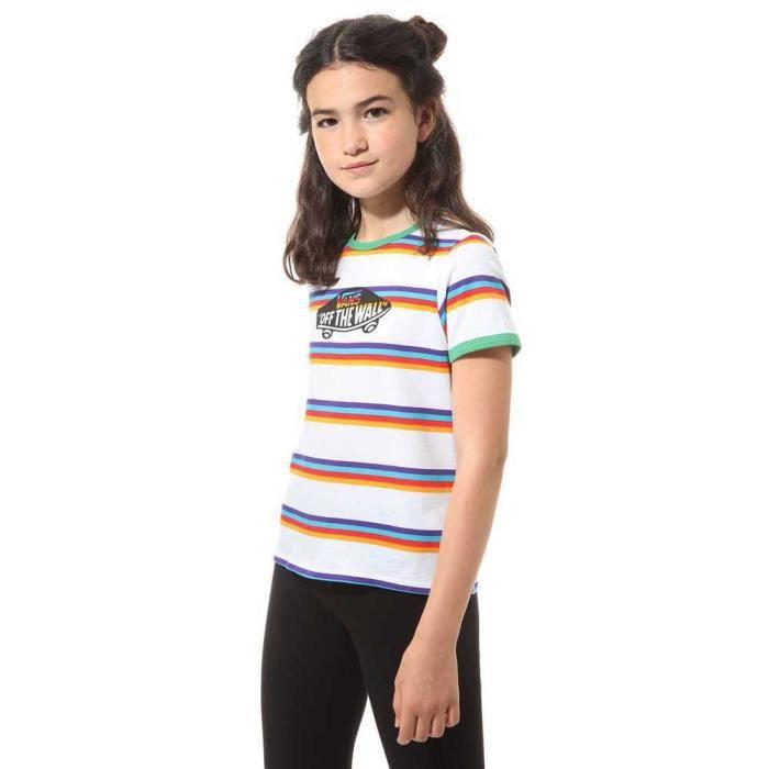 Vêtements fille T-Shirts Vans Off Dee Wall