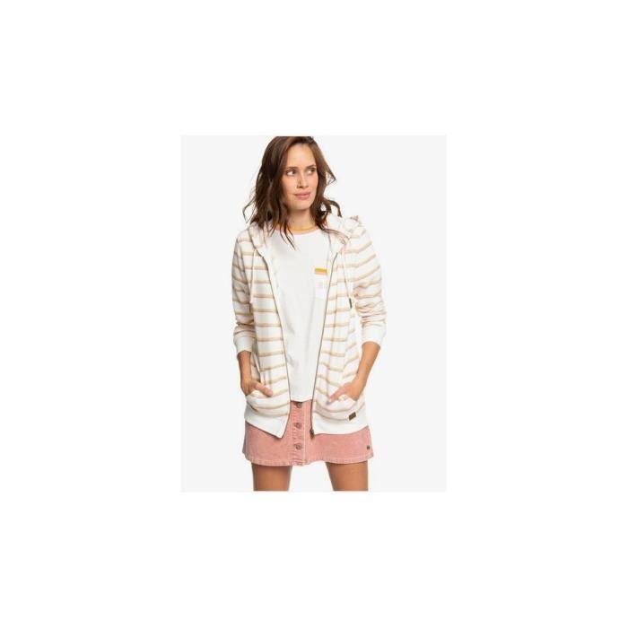 ROXY - Veste zippée - blanc - XL - Blanc - Pulls & Gilets & Sweats