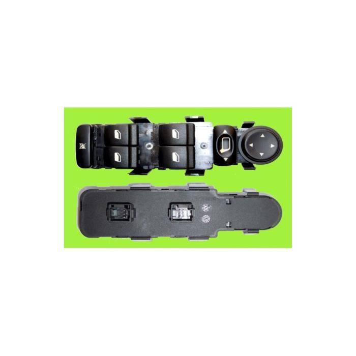 Contacteur bouton platine lève-vitres électrique avant gauche, Peugeot 307 de 01/05 à 06/08