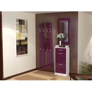 Ensemble de hall d 39 entr e blanc violet oui oui achat for Meuble hall d entree