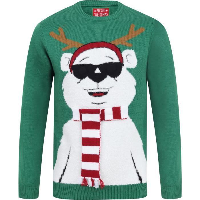 Seasons Greetings homme femme équipe Santa nouveauté en Tricot Noël Pull