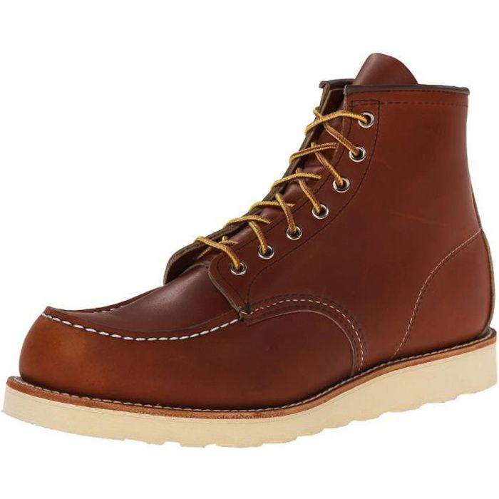 RED WING HOMME 00875 MARRON CUIR BOTTINES Fd1ggygb9