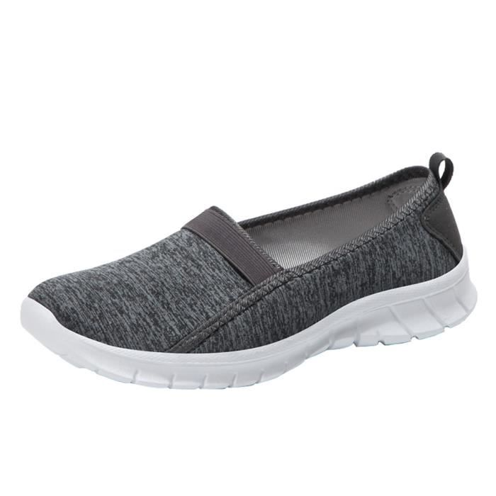 Femmes Lazy Sole 5626 Fashion Breathable Casual Soft xz Fonc Sports on Gris Slip Shoes Hpqdwx