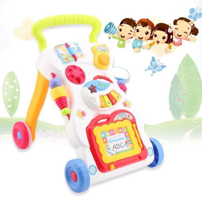 Chariot de marche poussette musique pour bébé