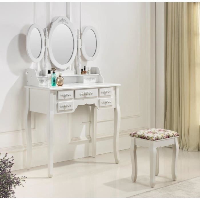 tr s jolie coiffeuse table de maquillage achat vente coiffeuse tr s jolie coiffeuse table. Black Bedroom Furniture Sets. Home Design Ideas