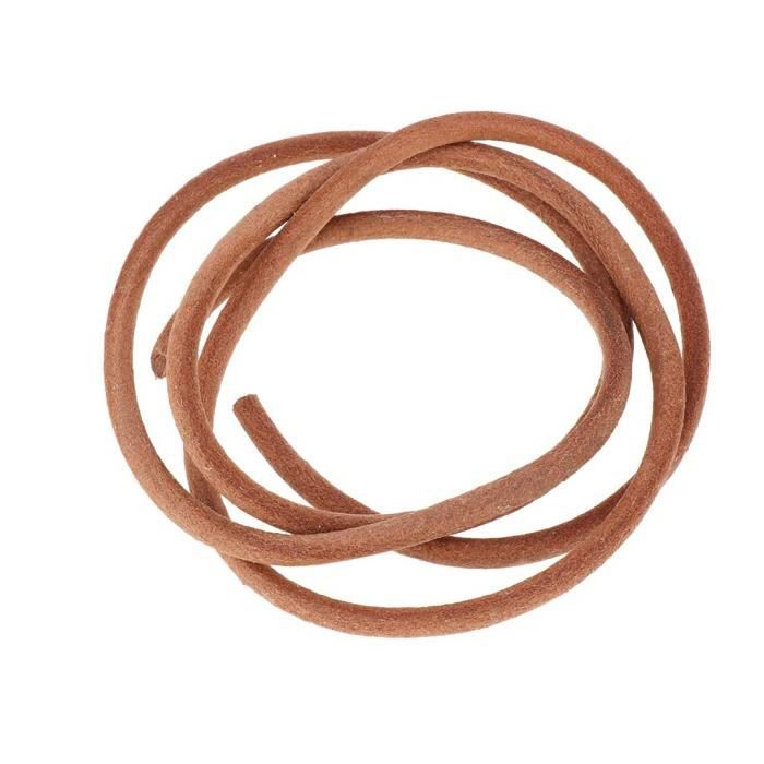 Longueur: Au Choix Naturel naturel 1 m/ètre Ficelle en cuir rond 3/mm