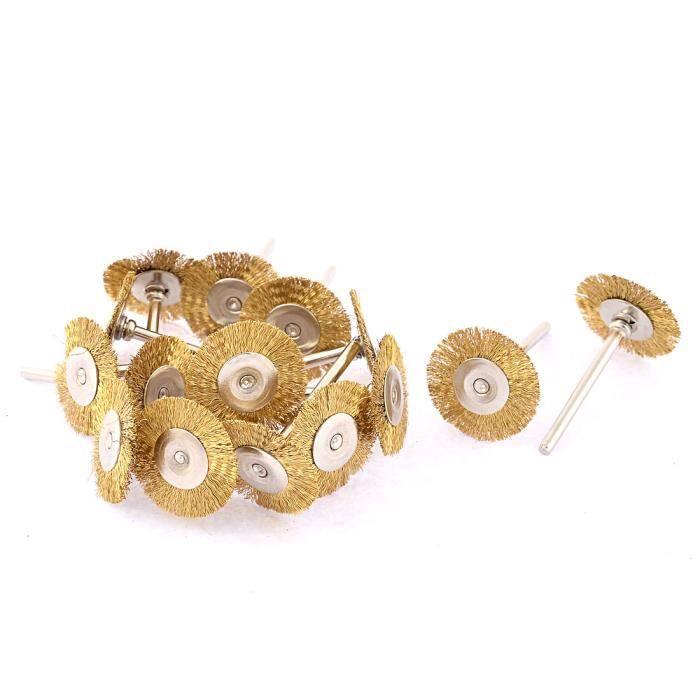 10pcs diamètre 25 mm Fil Roue polonaise Brosses pour outil rotatif broyeur Accessoire