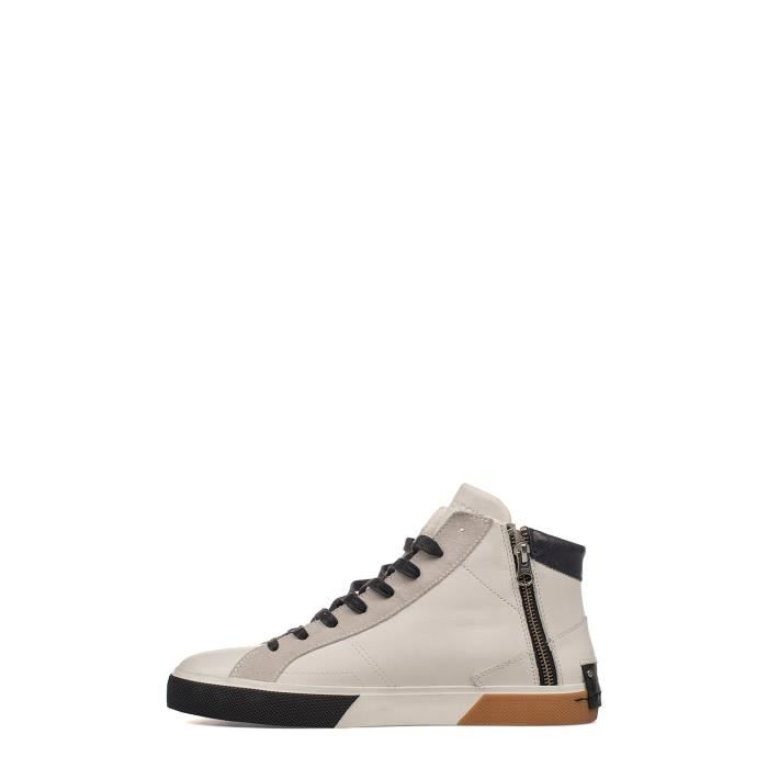 CRIME LONDON HOMME 11345KS110 BLANC CUIR BASKETS MONTANTES