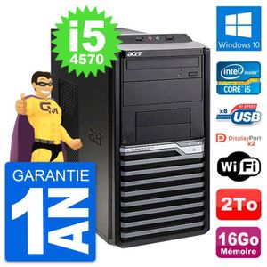ORDI BUREAU RECONDITIONNÉ PC Tour Acer Veriton M4630G Intel i5-4570 RAM 16Go