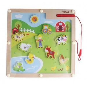 PUZZLE Viga Toys magnet puzzle ferme 10 pièces