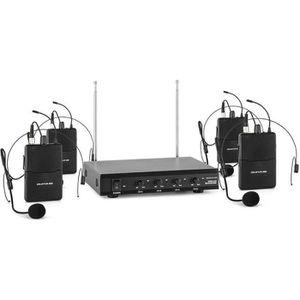 MICROPHONE - ACCESSOIRE auna VHF-4-HS Set micro sans fil Headset système 4