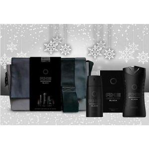 COFFRET CADEAU PARFUM SACOCHE AXE BLACK Eau de Toilette / Déodorant / Ge