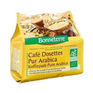 CAFÉ BONNETERRE - DOSETTES CAFE LEGER PUR ARABICA 125G