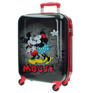 VALISE - BAGAGE Valise Cabine rigide 4 roues MICKEY MOUSE Noir Rou
