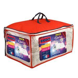 COUETTE DODO Pack OPERA - 1 couette tempérée 220x240cm + 2