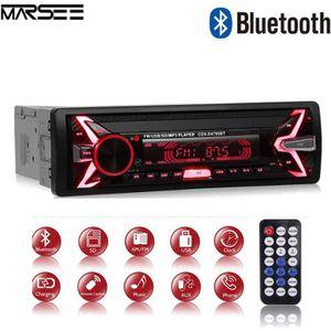 AUTORADIO Autoradio Bluetooth, 7 Couleurs Stereo FM Radio 4x