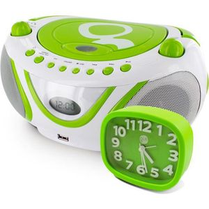RADIO CD CASSETTE Ensemble Gulli vert radio CD-MP3 avec port USB et