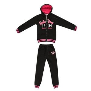 SURVÊTEMENT Jogging enfant fille Smile Girls noir fushia Taill