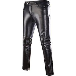 PANTALON Pantalons Hommmes Maigre Brillant Or Argent Noir P
