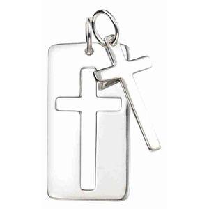 SAUTOIR ET COLLIER Mon-bijou - D4497 - Collier double croix en argent