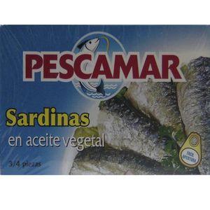 PRODUIT DE SARDINE lot de 5 boites de  sardines à l'huile végétale ma