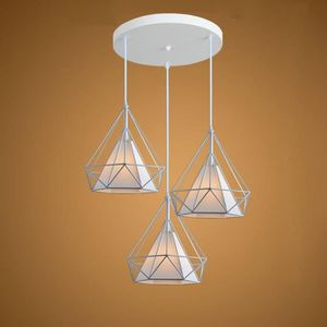 LUSTRE ET SUSPENSION STOEX® Lot de 3 Lustre Suspension Cage Forme Diama