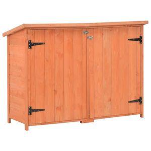 ABRI JARDIN - CHALET Abri de stockage de jardin 120x50x91 cm Bois | Bru