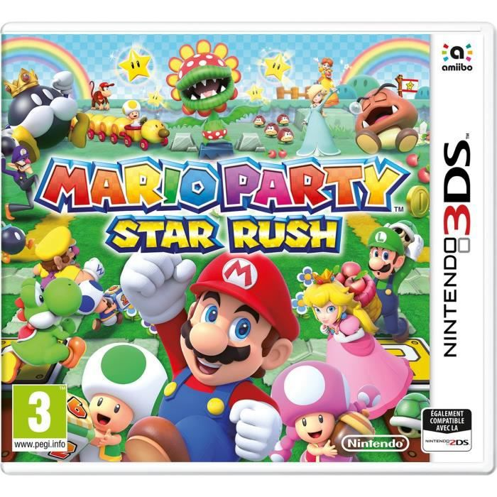 mario party star rush jeu 3ds achat vente jeu 3ds mario party star rush 3ds cdiscount. Black Bedroom Furniture Sets. Home Design Ideas