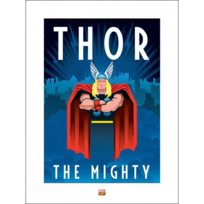 thor poster reproduction marvel deco 80 x 60 cm achat vente affiche black friday le 24. Black Bedroom Furniture Sets. Home Design Ideas