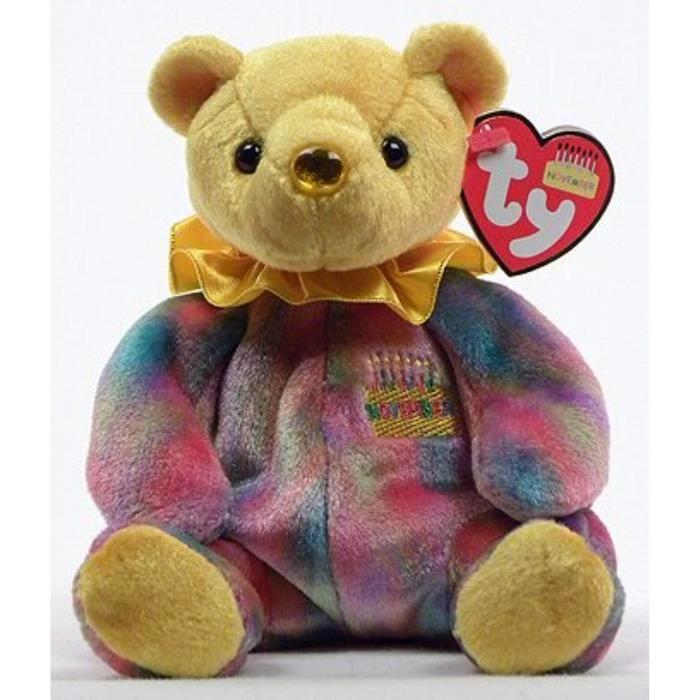 Peluche I20HZ Bonnet Novembre Topaze Teddy Joyeux anniversaire de naissance Ours