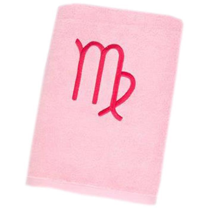 Thicker Serviette de bain en coton Absorbant personnalisé Douze Constellation Serviette de bain, Vierge, Rose